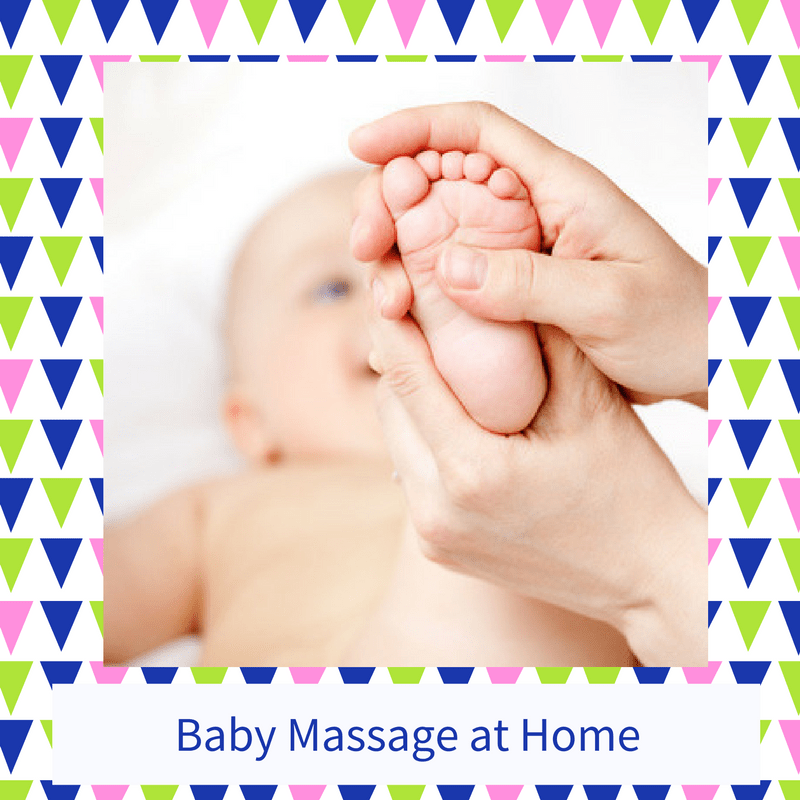 Learning baby massage at home