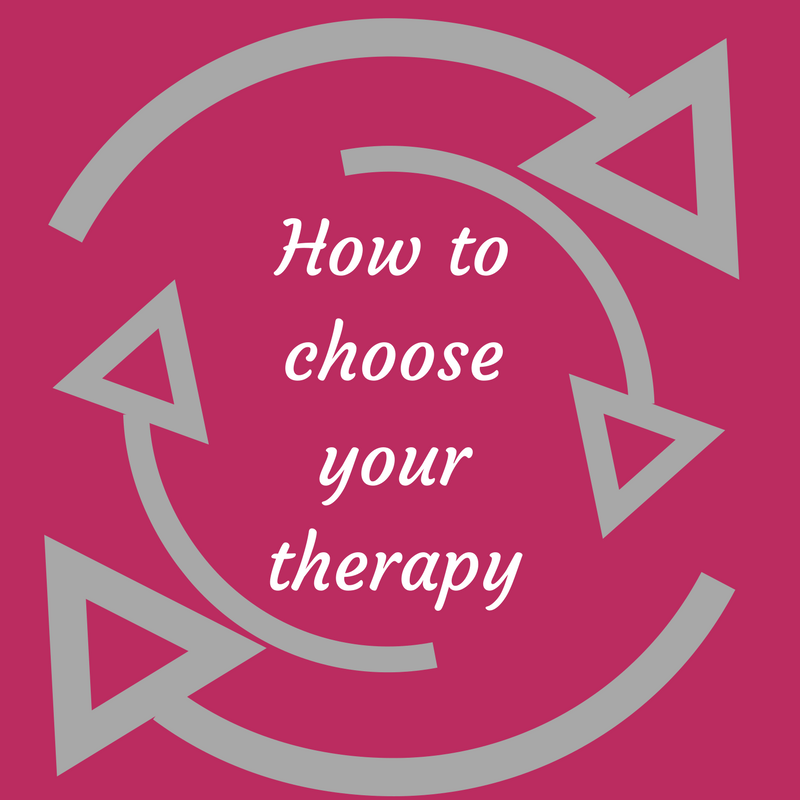 How to choose your therapy
