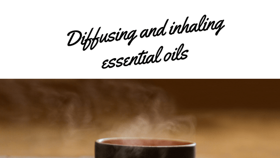 Diffusing and inhaling essential oils