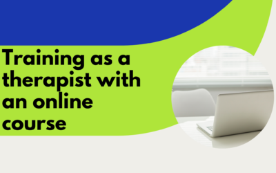 Training as a therapist with an online course
